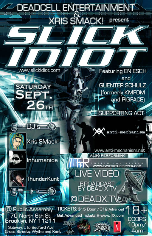 SlickIdiot AntiMechanism 9 26 09 Femdom Thumbs Meninpain Pictures   SLICK IDIOT (KMFDM, Pigface) + Anti Mechanism Live!